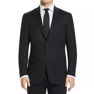 Hart Schaffner Marx Black New York Suit Jacket 46R